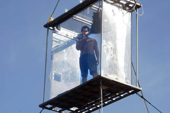 David Blaine spent 44 days suspended in a perspex box above the Thames in 2003
