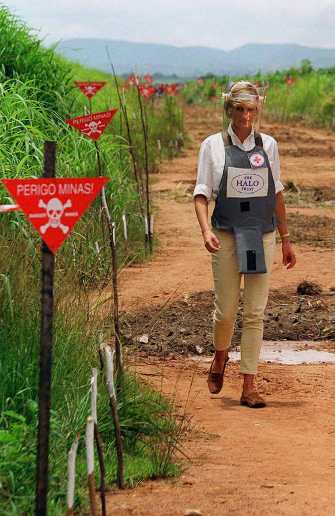 Harry and Meghan will continue Princess Diana's work in landmines