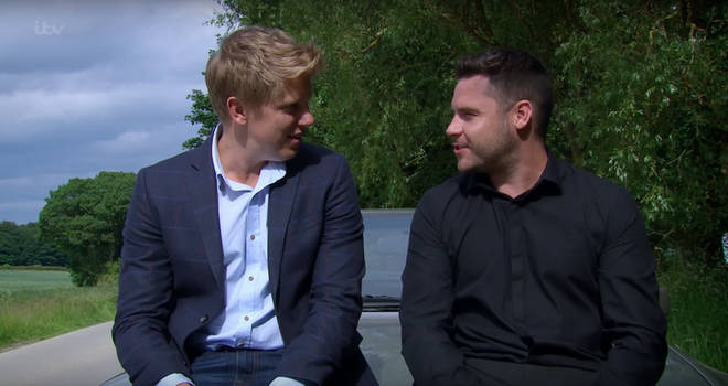Robert Sugden with on-screen husband Aaron Dingle