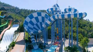 The ride has just opened at Aqualandia, Benidorm
