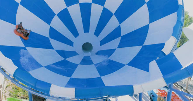 Riders get to experience the 'zero gravity' vortex at the end