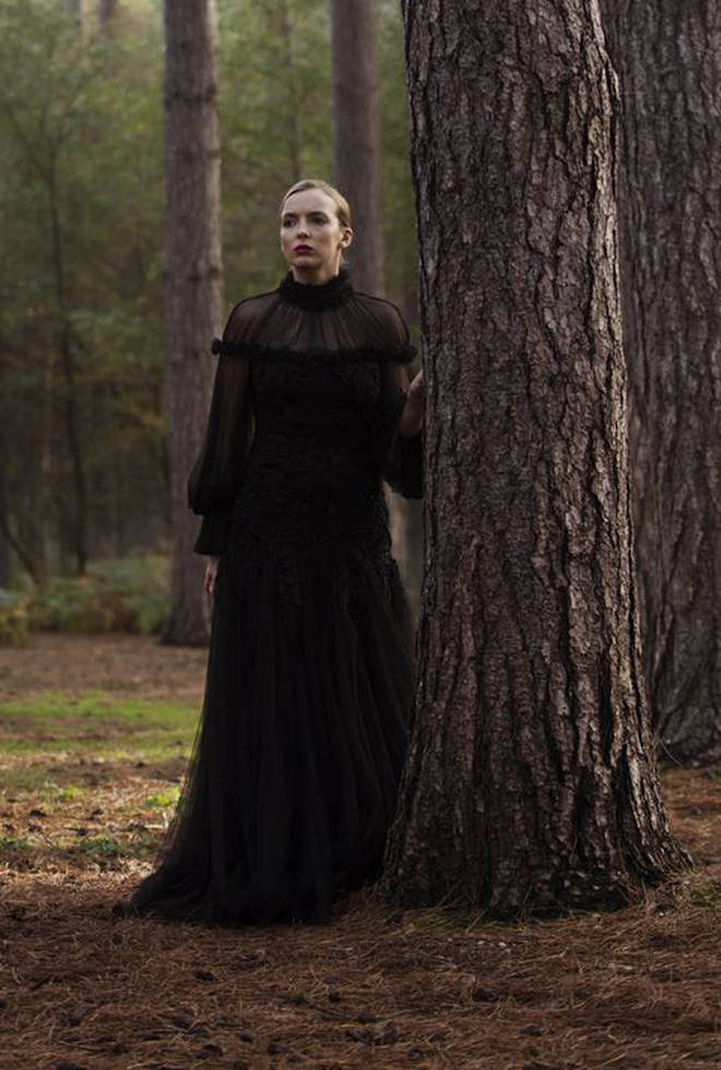 Villanelle wore a dramatic black Alexander McQueen gown in season 2