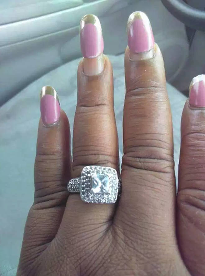 Bride-to-be shows off her HUGE engagement ring but people