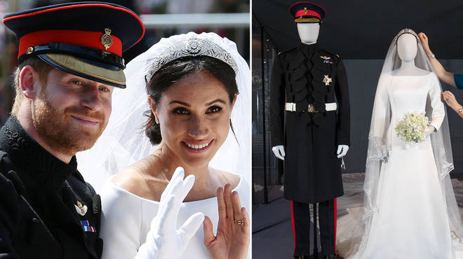 Meghan and Harry's wedding outfits are now on display in Edinburgh