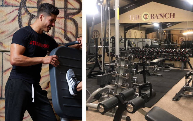 Anton's very proud of his gym and place of work