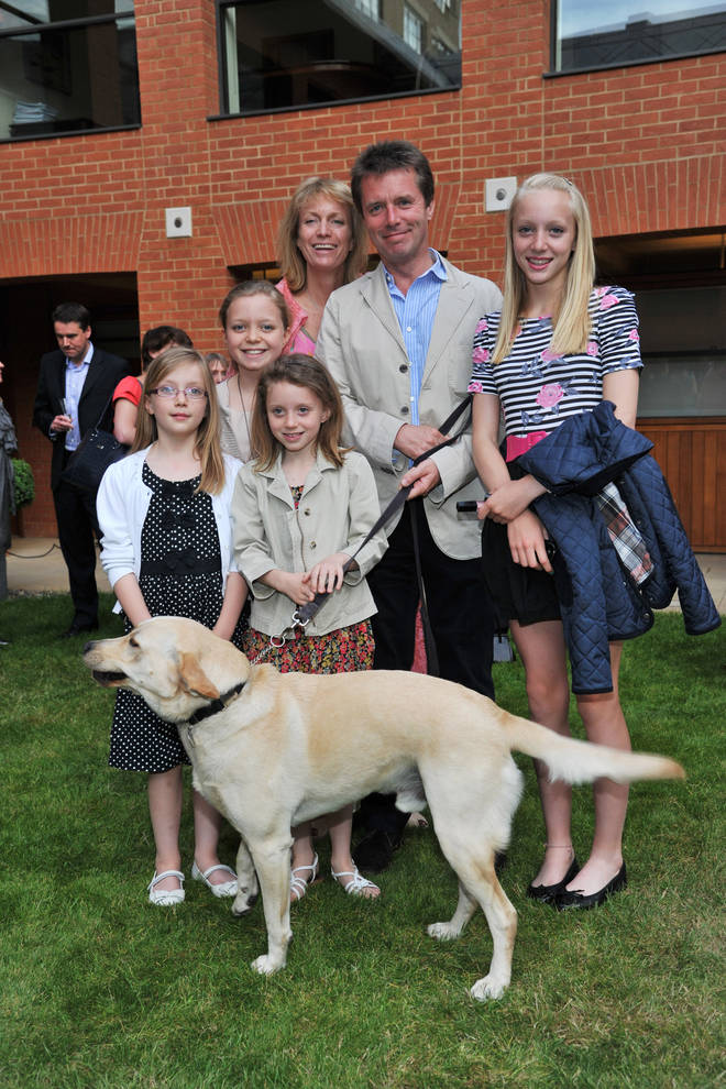 Nicky Campbell and family pictured in 2011 - eldest daughter Breagha is far right