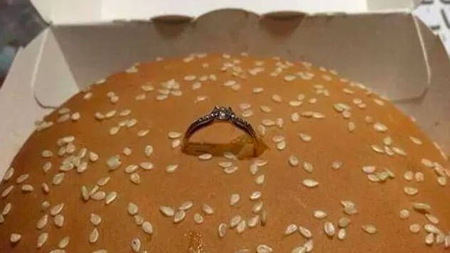Facebook slam man who proposed to girlfriend with a BIG MAC