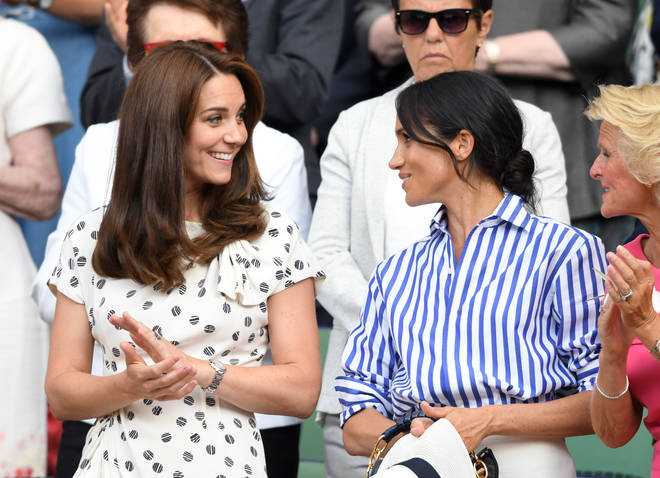 Meghan Markle and Kate Middleton watched Serena Williams play at Wimbledon 2018