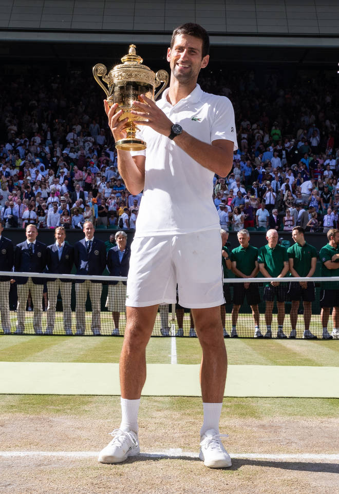 Djokovic won the men's single at last year's Wimbledon