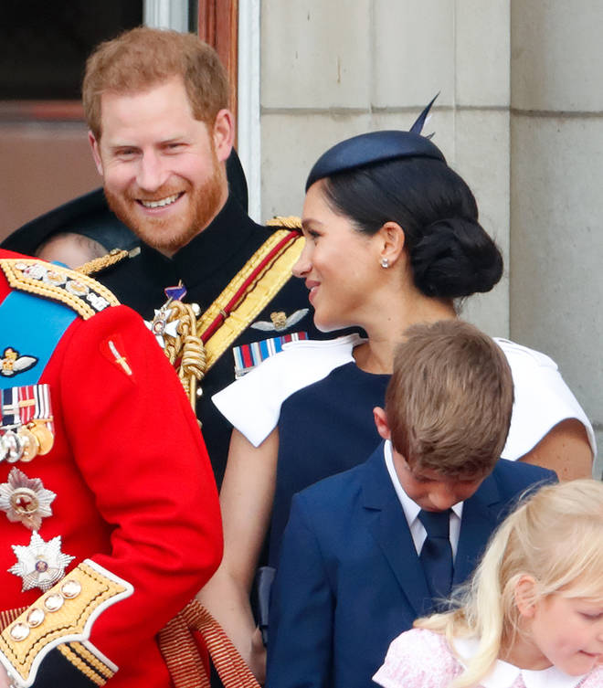 Royal fans called Prince Harry out last week after he was appeared to tell Meghan Markle off during Trooping The Colour