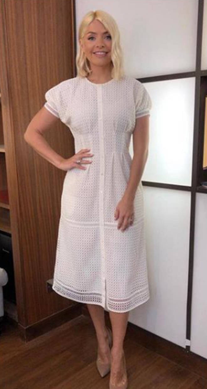 Holly Willoughby dressed in Joie for This Morning