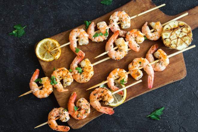 The hack means you can peel prawns in seconds