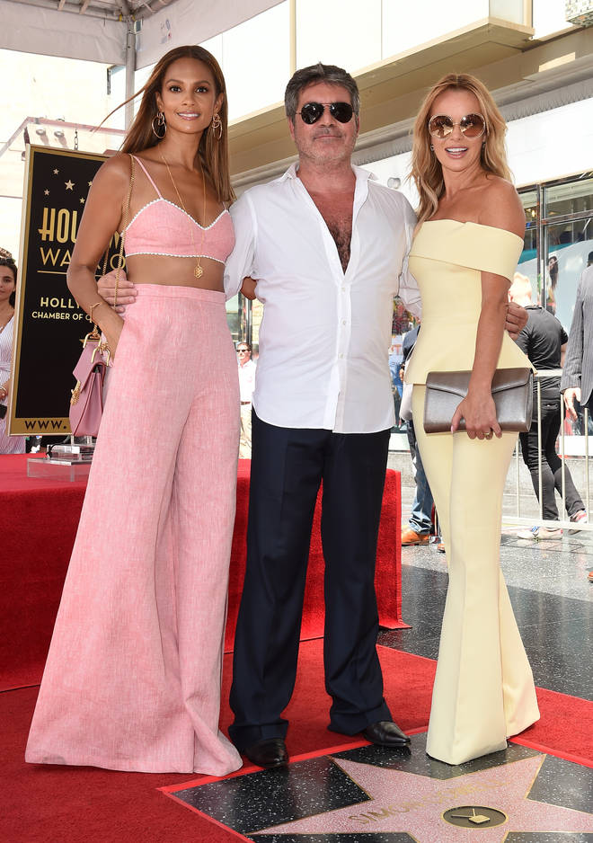 Simon Cowell was joined by Alesha Dixon and Amanda Holden when he was awarded a star on the Walk of Fame