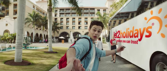 Tom Walker starred in a Jet2 Holidays advert