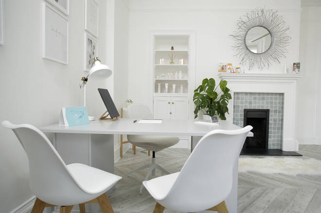 The Harley Street clinic is super stylish and a comfortable environment