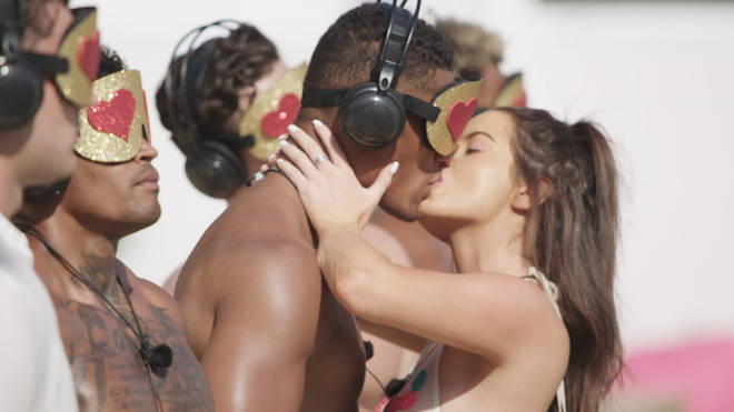 Maura was more than happy to take part in this week's kissing challenge.