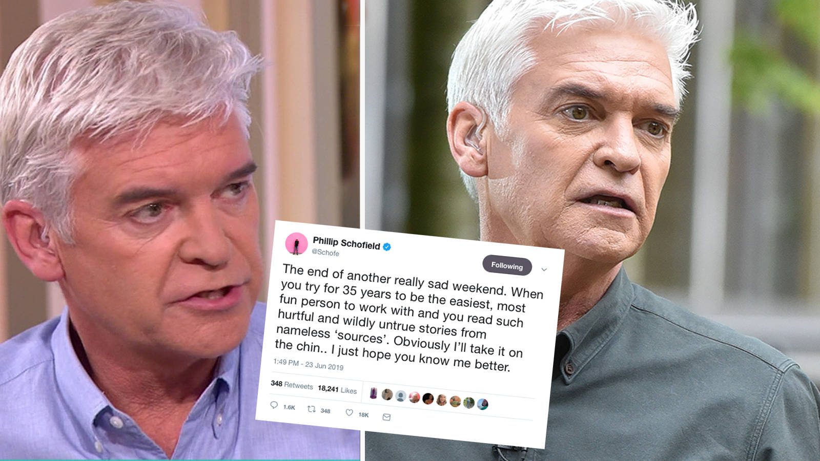 Philip Schofield hits back at 'hurtful' claims he's