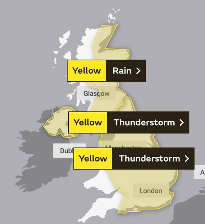The Met Office has issued several weather warnings across the UK.