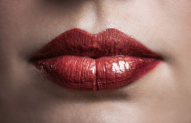 Many people see lips first in the optical illusion