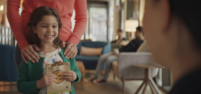 Enjoy a warm cookie welcome when you arrive at a DoubleTree by Hilton hotel