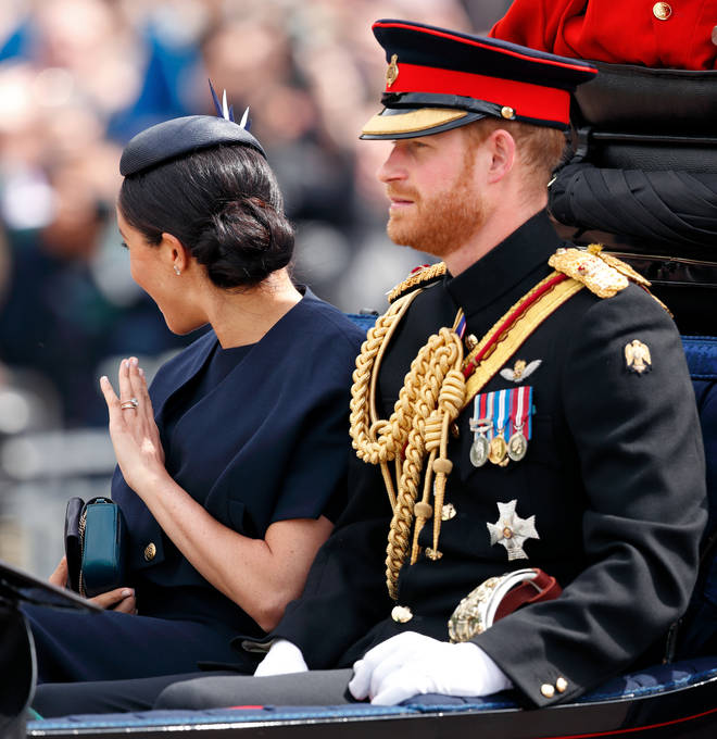 "The Duchess of Sussex was spotted wearing the ""new"" design at Trooping The Colour."