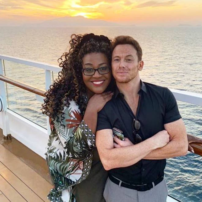 New father Joe Swash joined Alison on the cruise as they film for ITV