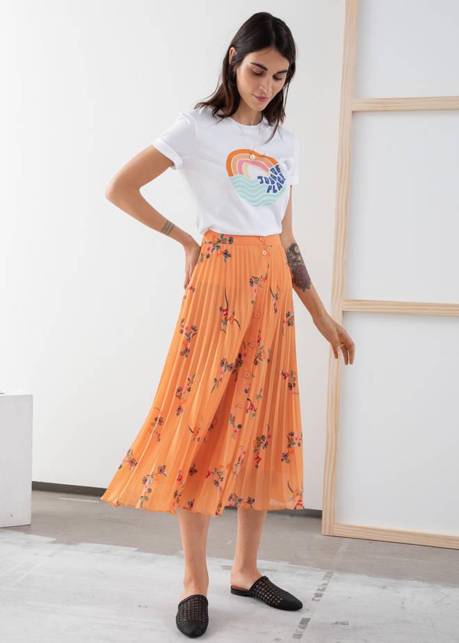 This pleated midi skirt is just £65