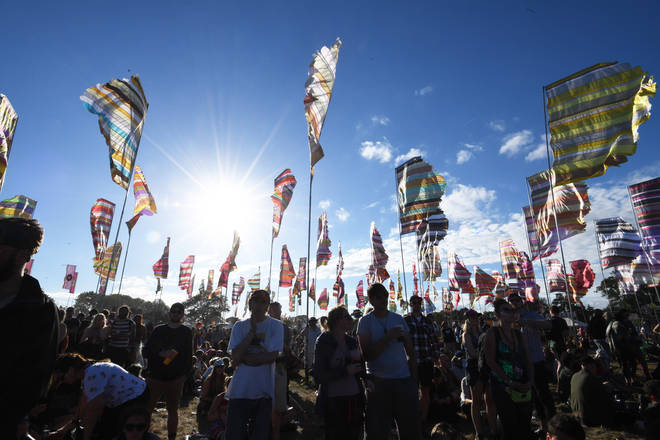 Glastonbury attendees will be treated to very hot weather this weekend