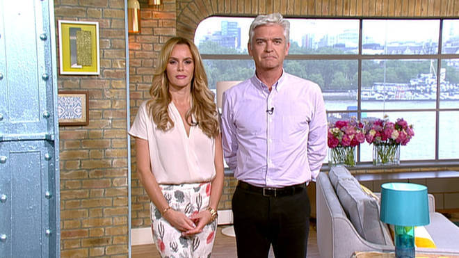 Amanda Holden and Phillip Schofield presented This Morning together in 2015.