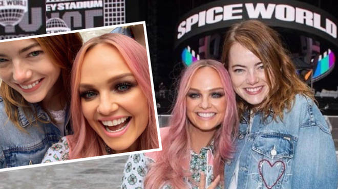 Emma Stone has broken her shoulder at a Spice Girls concert in London.