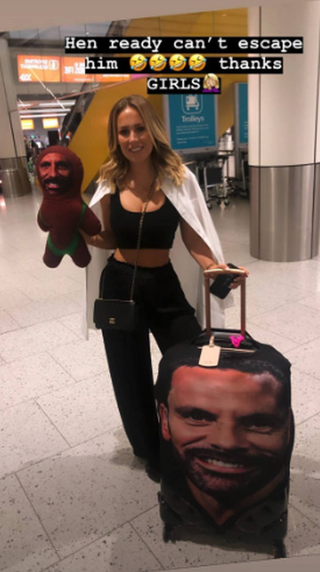 Kate was given a suitcase with her fiancée's face on it