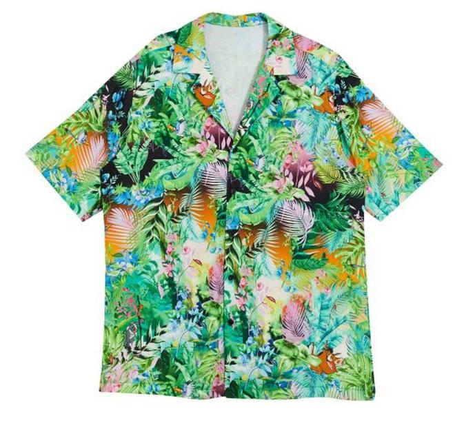 Disney The Lion King x ASOS DESIGN revere shirt co-ord in jungle print – £35.00