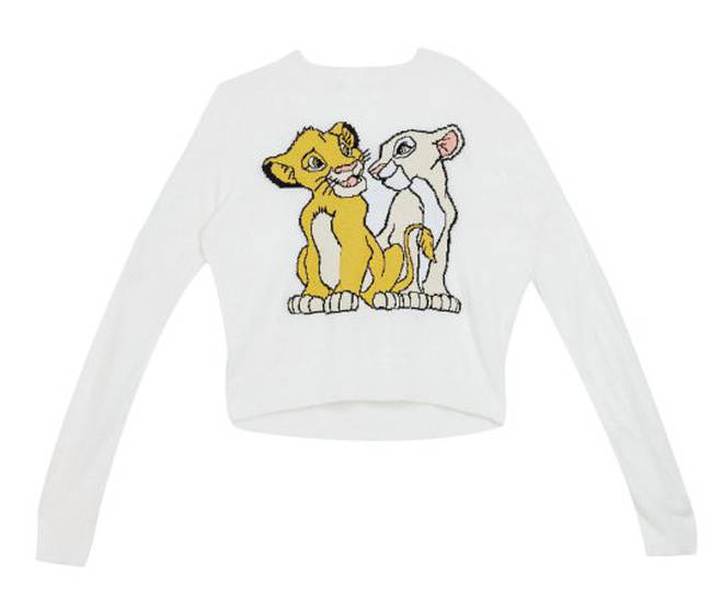 Disney The Lion King x ASOS DESIGN knitted jumper with Simba and Nala – £40