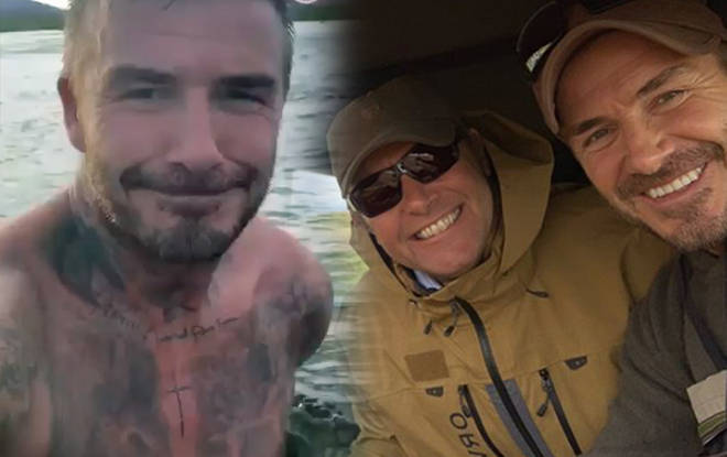 David is on a fishing trip with Guy Richie in Iceland