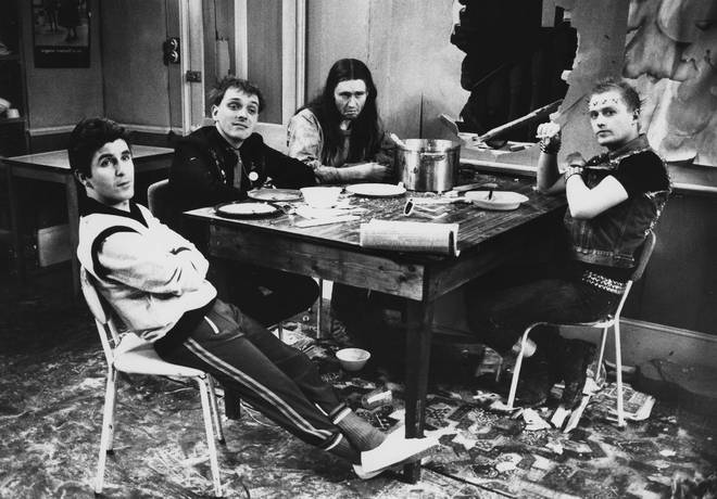 Adrian (far right) played Vyvyan The Young Ones