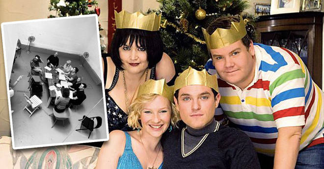 James Corden has posted a behind-the-scenes snap of Gavin and Stacey rehearsals