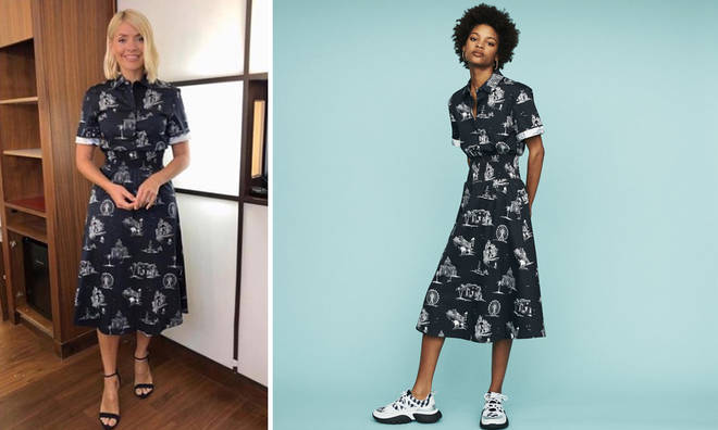 Holly Willoughby wore a shirt dress from Maje Paris