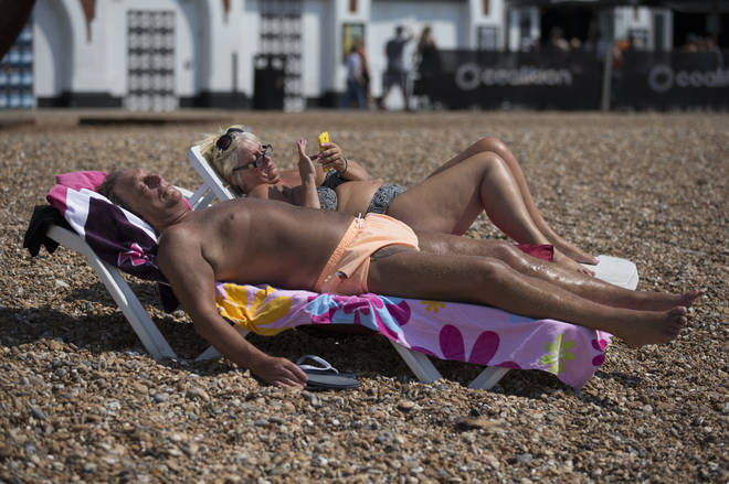 The warm air blazes in from Europe causing a hot spell which will hit its peak on Saturday.