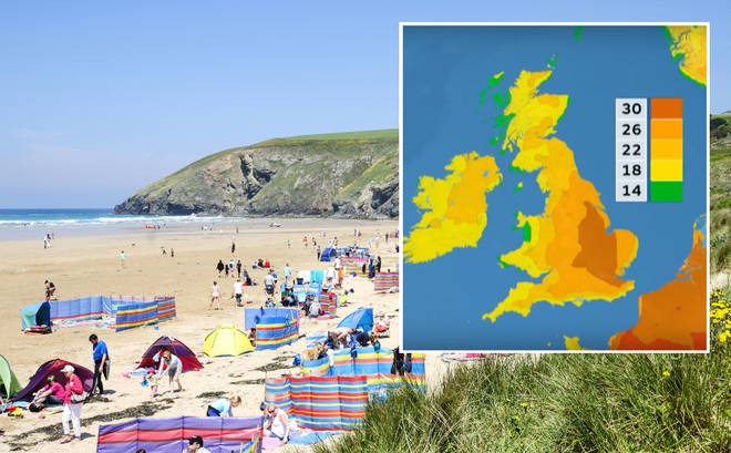 Brits are set to sizzle this Saturday in what has been tipped as the hottest day of the year so far.