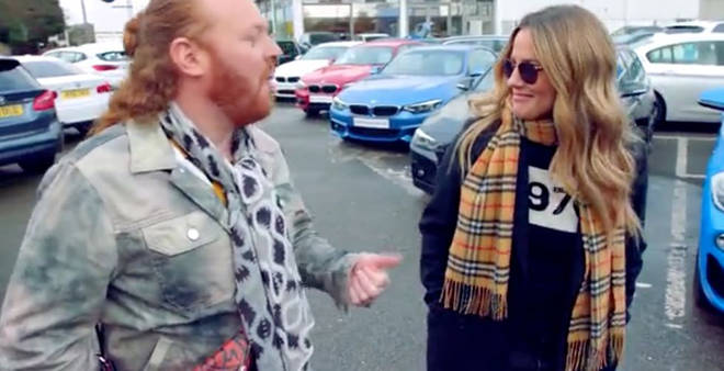 Keith Lemon asks Caroline Flack about her alleged relationship with Harry Styles
