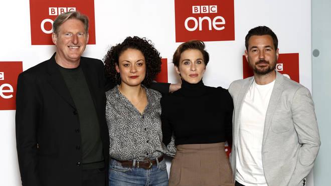 Adrian Dunbar, Rochenda Sandall, Vicky McClure and Martin Compston.