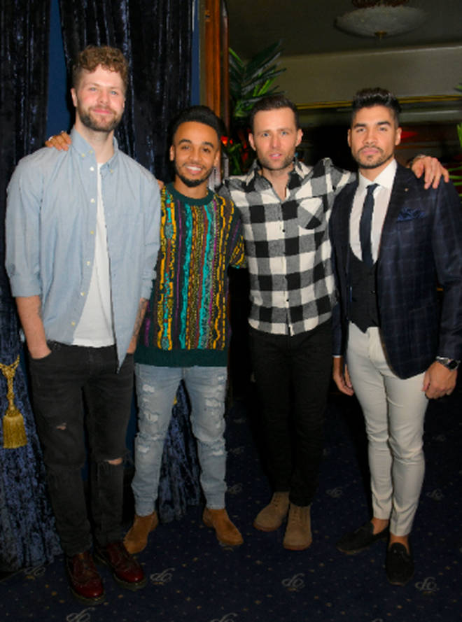 Rip It Up Aston Merrygold, Louis Smith, Harry Judd and Jay McGuinness