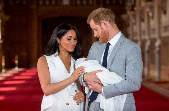 The Duke & Duchess Of Sussex Pose With Their Newborn Son Archie