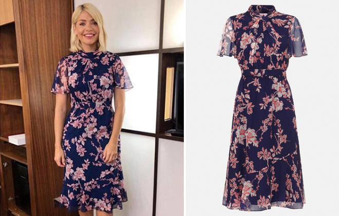 Holly went for a floral number