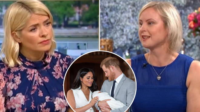 This Morning's Holly Willoughby defends Meghan Markle and Prince Harry during tense 'private christening' debate