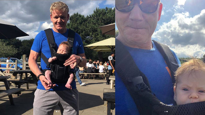 Gordon Ramsay has divided opinion over his baby sling