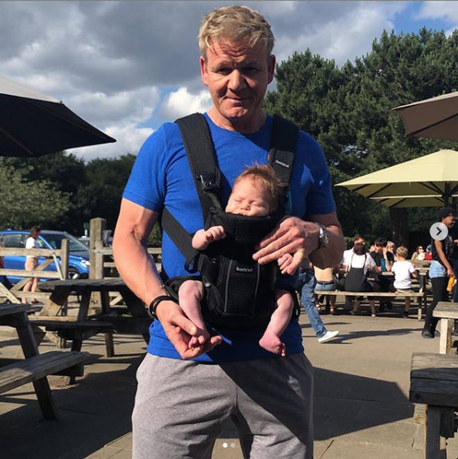 Gordon Ramsay proudly posed with baby son Oscar