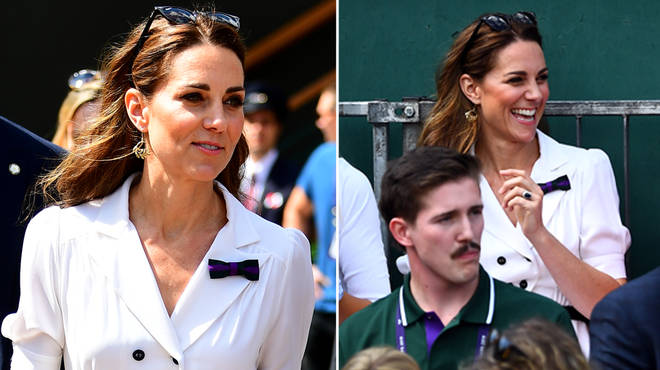 Kate Middleton arrived at Wimbledon earlier today in a stunning white summer dress