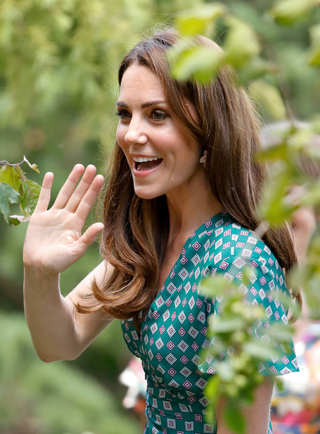 The Duchess of Cambridge wowed in a green dress as she hosted a picnic at the RHS Hampton Court Palace Flower Show