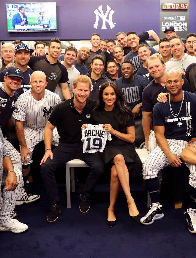 The New York Yankees gifted the Duke and Duchess with a cute baby grow for Archie Harrison
